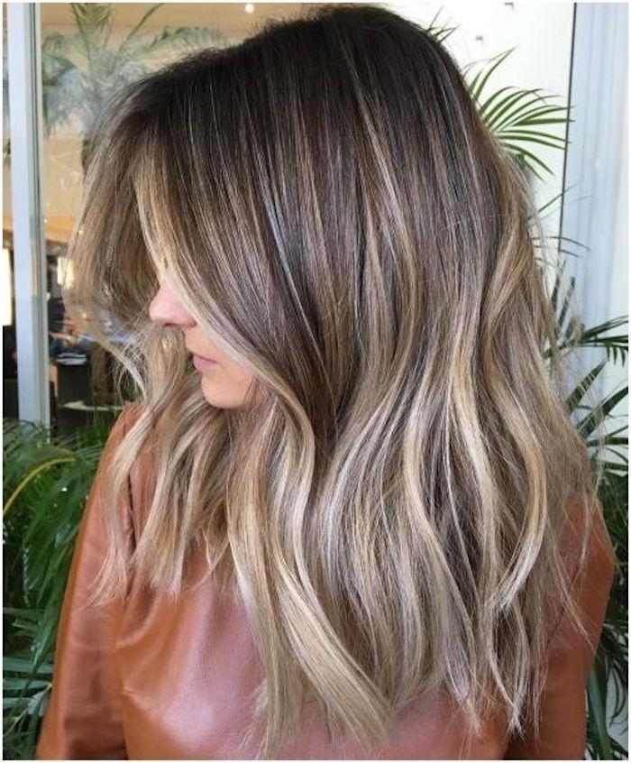 Pin auf Braune haare mit blonden strähnen