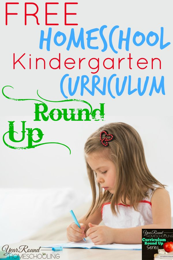 Free Kindergarten Homeschool Curriculum | Kindergarten ...