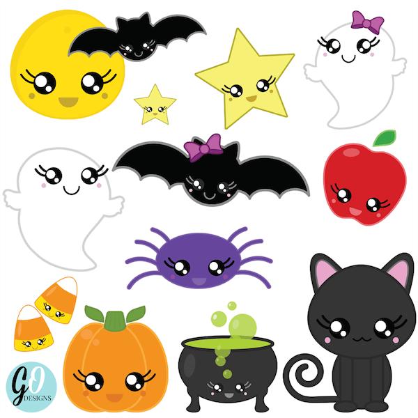 Kawaii Halloween Clipart Kawaii halloween, Halloween
