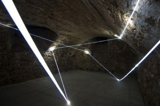 Light installations by Carlo Bernardini