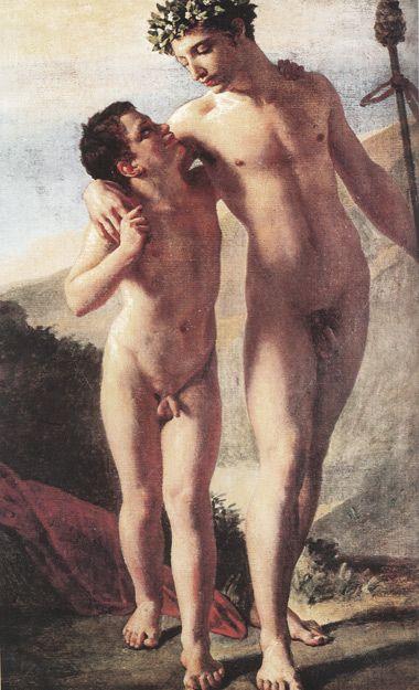 Nude girl in boy s arm — 5