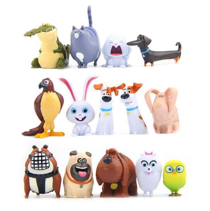 14 Pcs Secret Life Of Pets Movie Toy Pvc Figures Birthday Cake