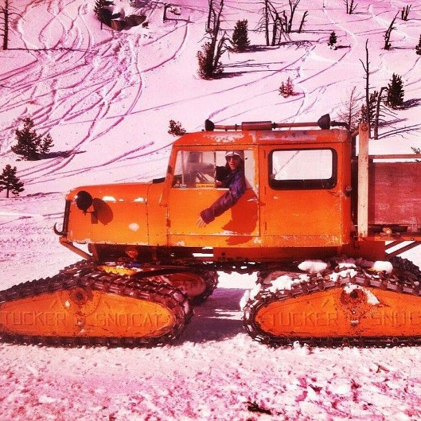This Is How Your Morning Commute Should Look Gordonemery Snowcat Getatit Makeithappen Snow Vehicles Vintage Sled Snow