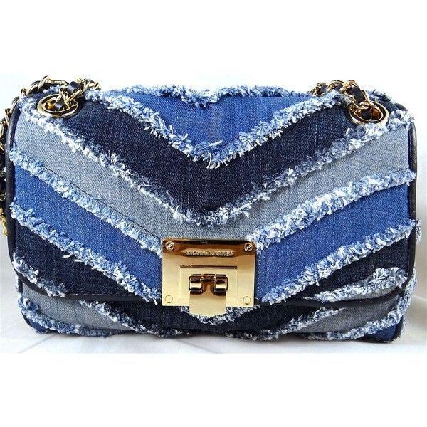 447dd5484bf3 Nwt Michael Michael Kors Vivianne Denim Medium Shoulder Flap Bag (€240) ❤  liked