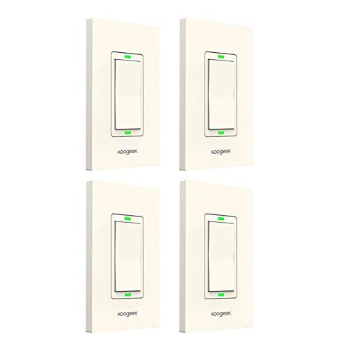 Koogeek Smart WiFi Light Switch Dimmer Works with Apple