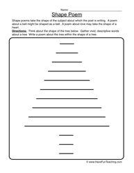Shape Poem Worksheet 1 | Worksheets
