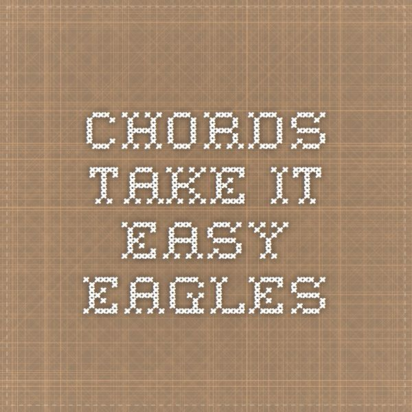 Chords Take It Easy Gallery - finger placement guitar chord chart