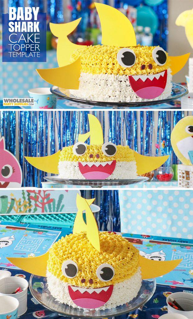 Diy Baby Shark Cake Topper In 2020 Shark Themed Birthday Party Shark Party Decorations Shark Birthday Party
