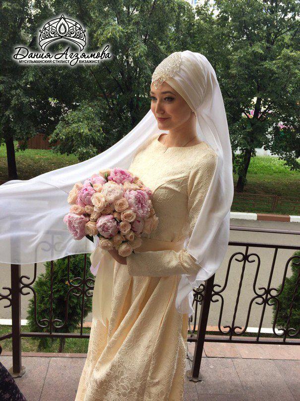 как завязать платок на никах невесте