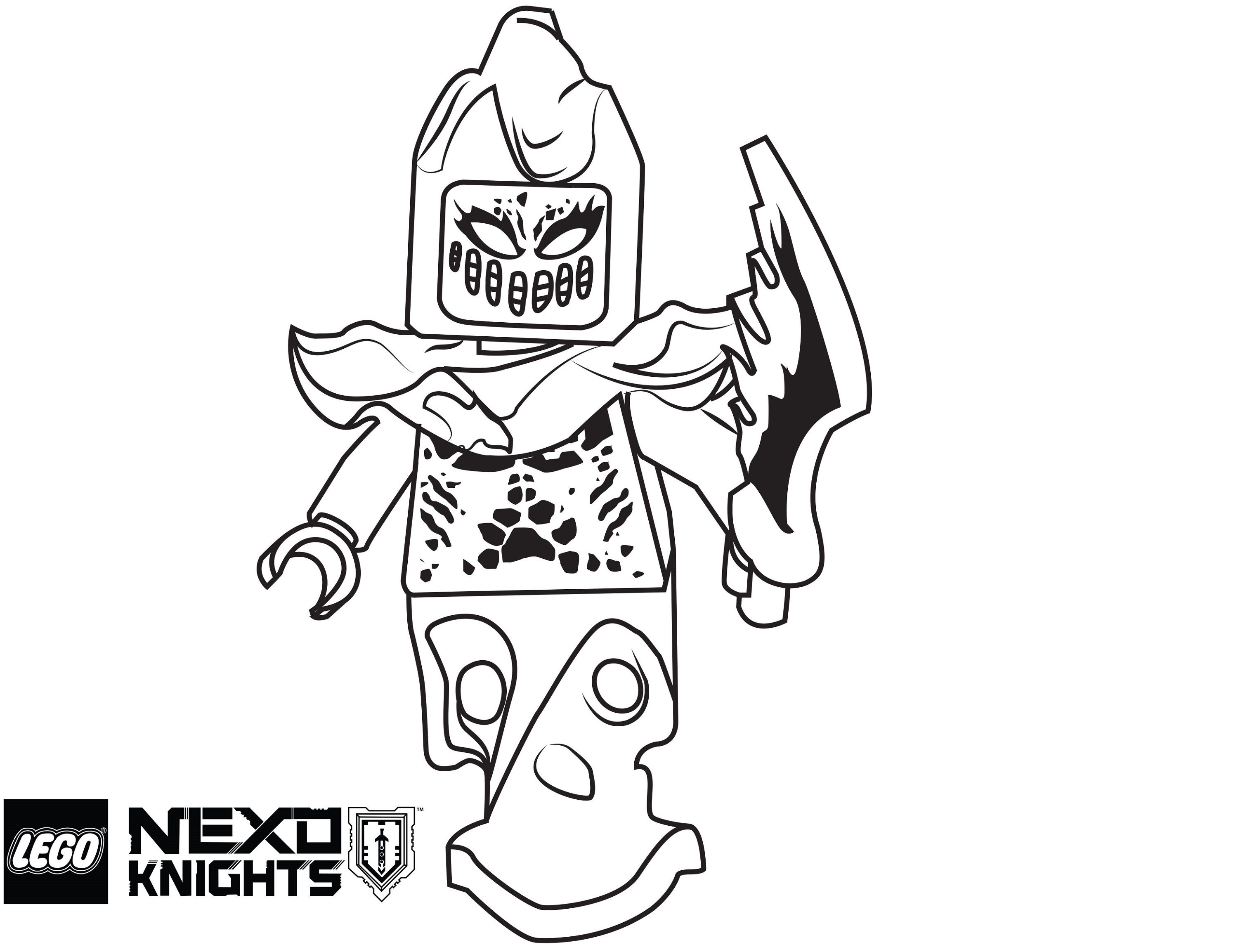 Lego Nexo Knights Coloring Pages Aaron Coloring Pages Knight