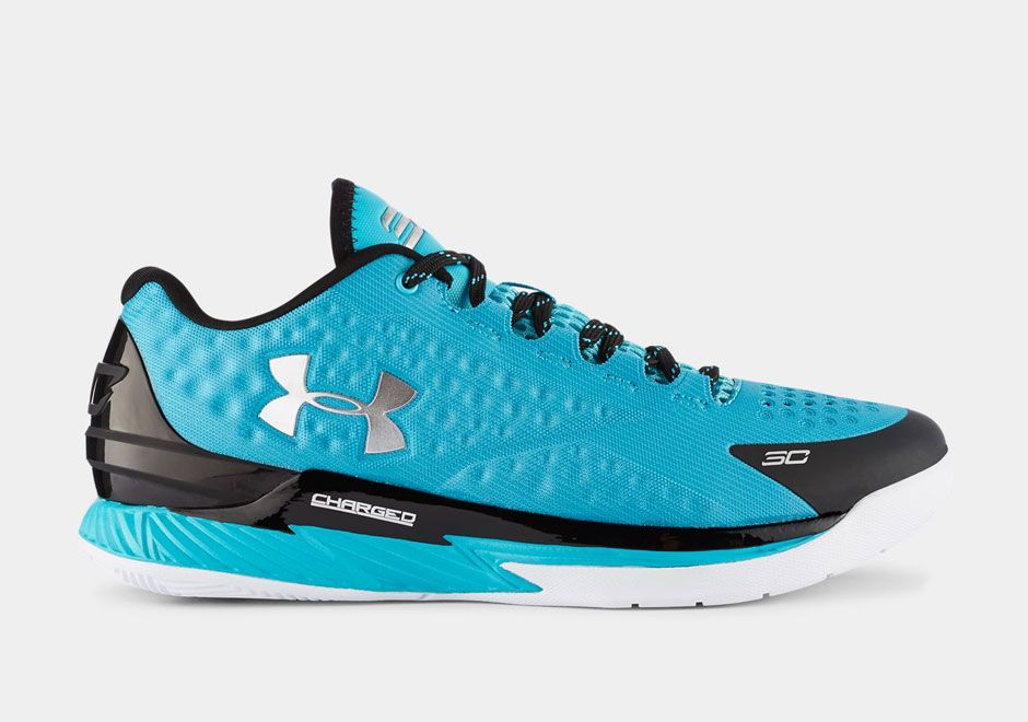 Online Cheap UA Curry One Teal Black White