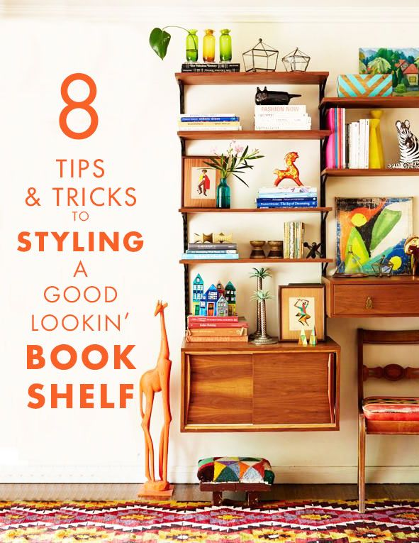 how to make bookshelf look good