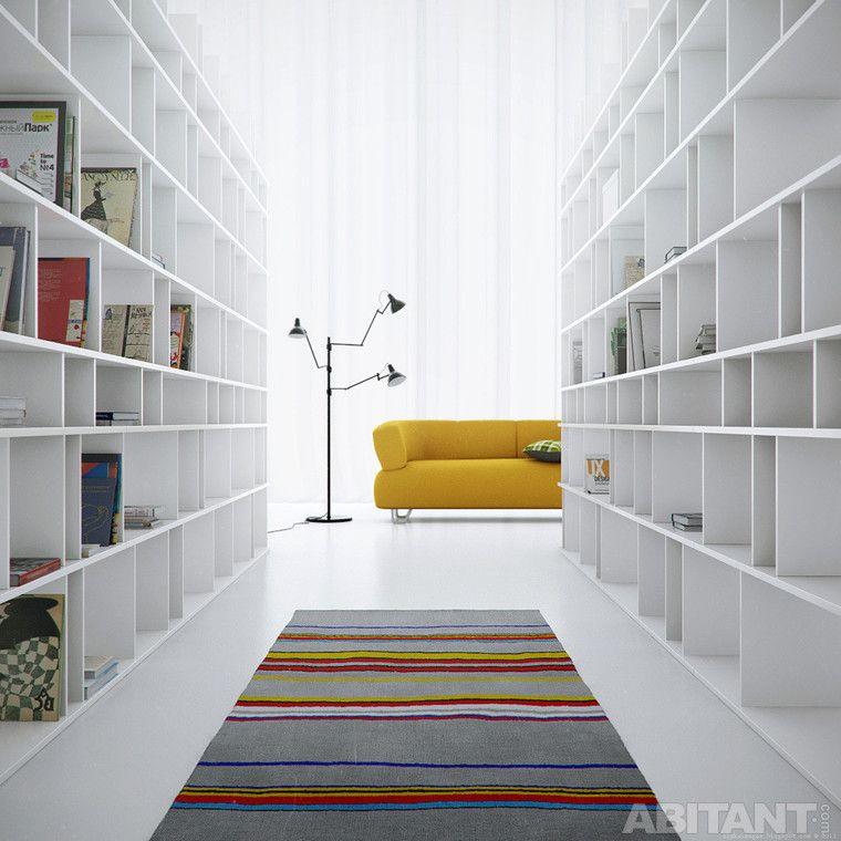 Проект - Reading-room. Дизайнер - Алекс Авилкин #BOOKCASE #MODERN #LIVINGROOM