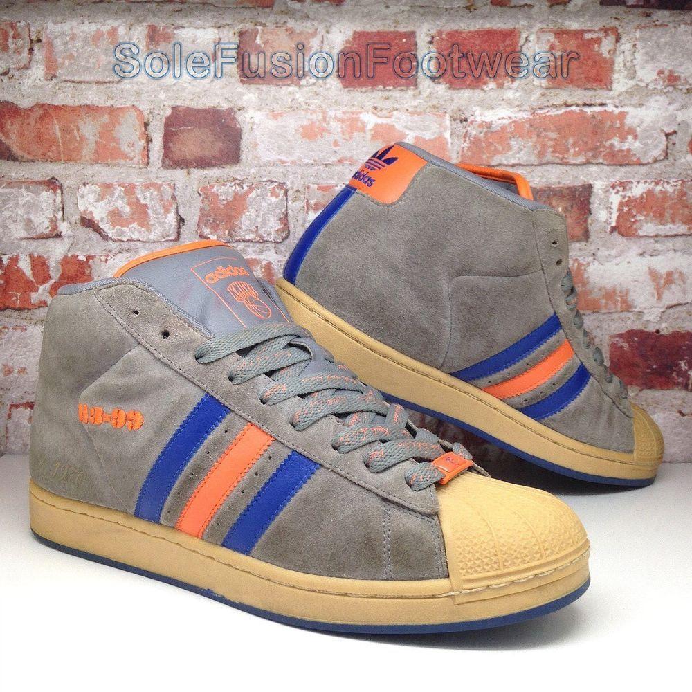 newest 10d66 55ef2 adidas Originals Mens ProModel Trainers Grey size 10 Superstar NY Knicks US  10.5   eBay