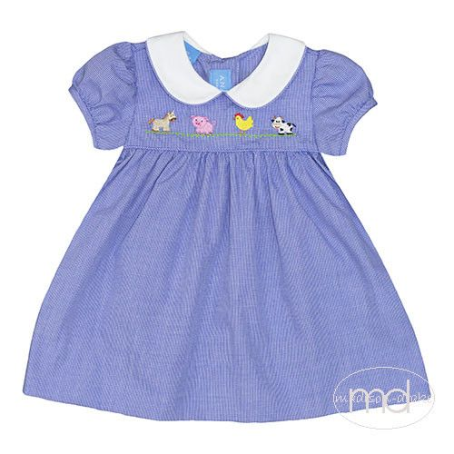 60280f7bd Anavini Farm Embroidered Baby Girls Dress from Madison-Drake Children's  Boutique