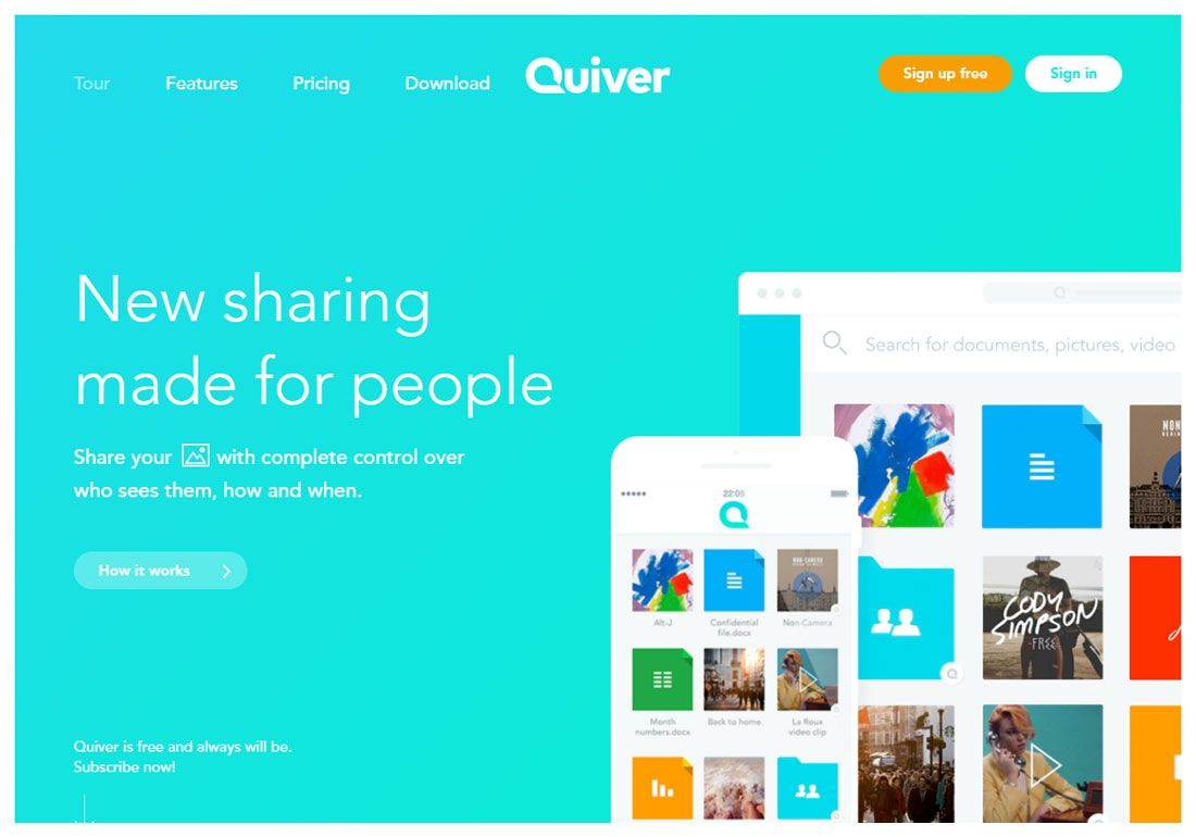 Site of the Day - 27 February Quiver By Bürocratik (Portugal) http://www.csswinner.com/details/quiver/10279