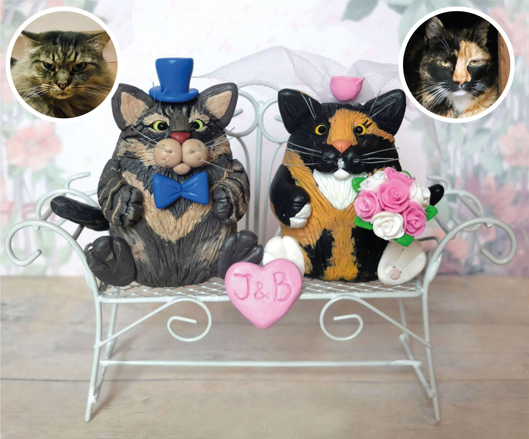 cat cake toppers wedding