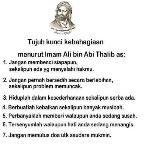 7 Kunci Kebahagiaan Ali Bin Abi Thalib As Kutipan