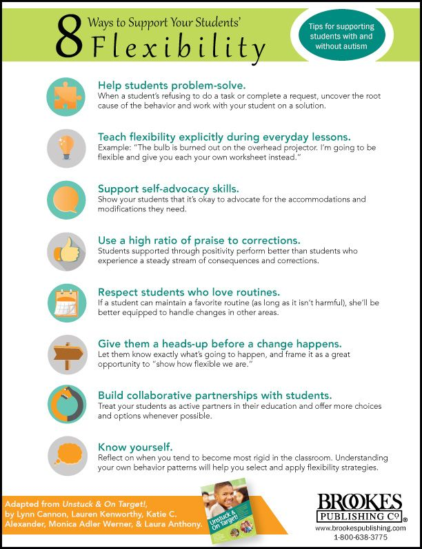 Autism Behaviors Do They Reflect >> 8 First Steps Toward Supporting Cognitive Flexibility In Your
