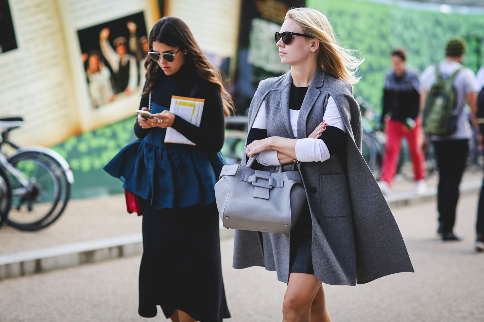 London Street Style Photos That Prove Fall Is NOT Boring #refinery29  http://www.refinery29.com/2015/09/94443/london-fashion-week-spring-2016-street-style-pictures#slide-18  It's a proven fact that cape coats make you feel like a superhero....