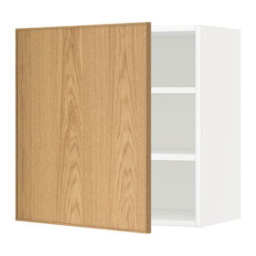 Best Metod Wall Cabinet With Shelves White Ekestad Oak Ikea 400 x 300