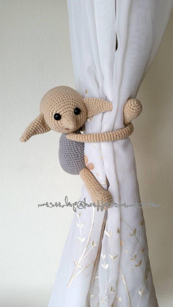 1 Dobby House Elf Crochet Curtain Tie Back Handmade Dobby Curtain