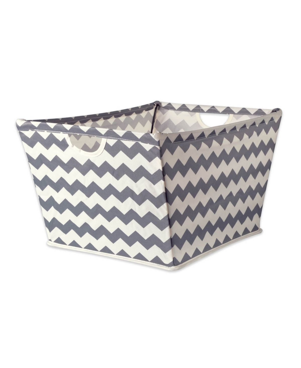 Constructed of polyester fabric and wrapped around a sturdy metal frame these trapezoid bins can match any storage task. Great for office storage solutions, nursery, closet, and laundry if you have a need, these bins can fill it.