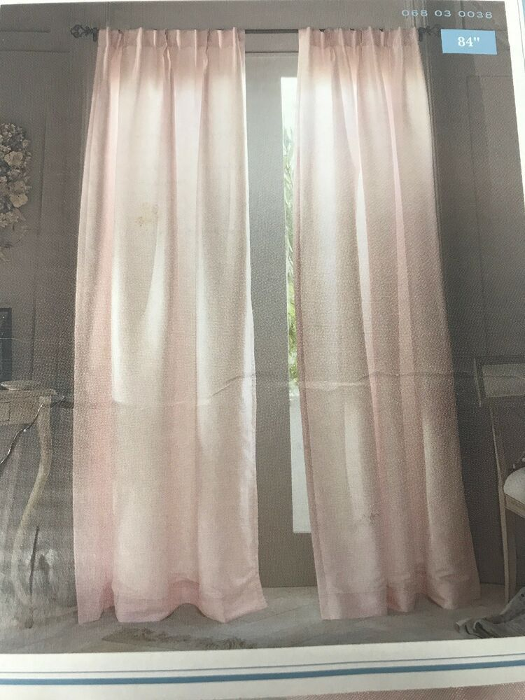 Simply Shabby Chic Light Filtering Pink Pleat Curtain Panel 54 X84 One Panel Ebay Simply Shabby Chic Shabby Chic Pleated Curtains