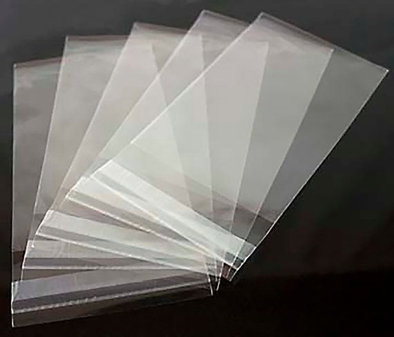 Clear Greeting Card Bags and Notecard Sleeves, Packs of 100 Pieces, Choice of 8 Different Sizes