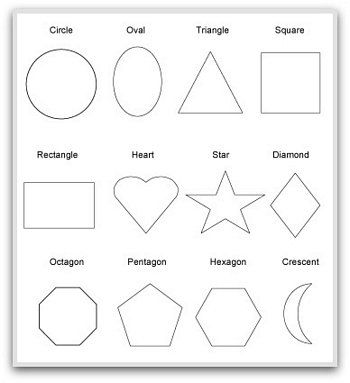 2D geometric shapes to print | Geometric Shapes | Pinterest