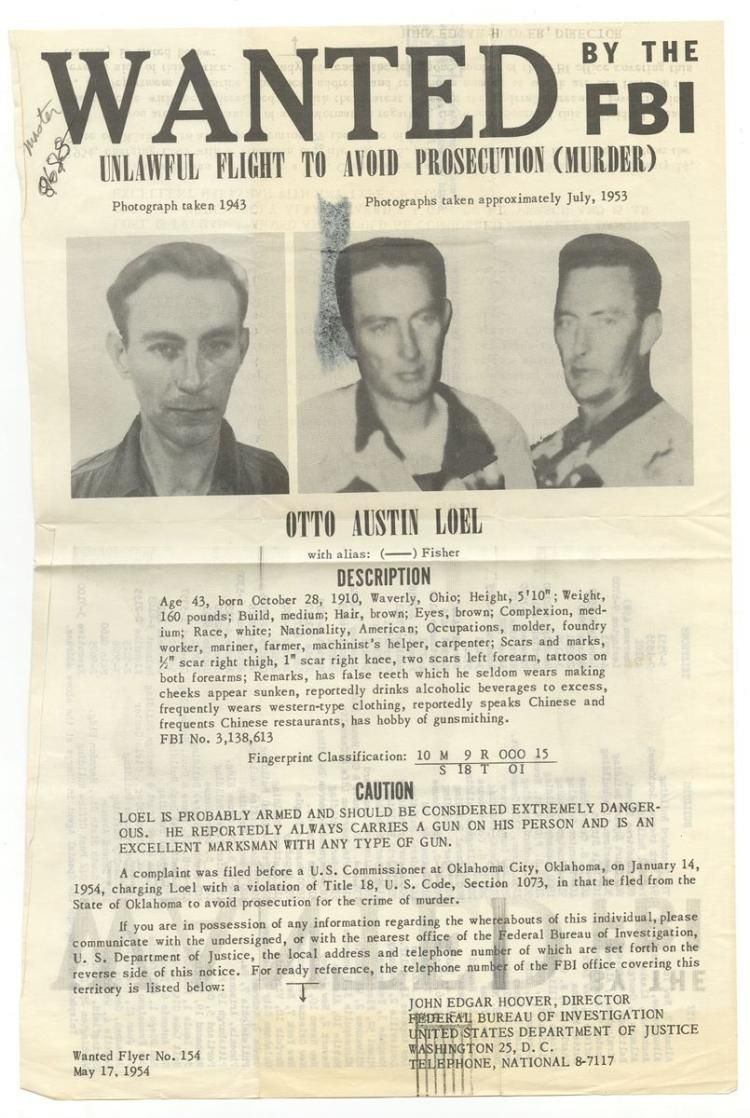 The vintage mugshots of shoplifters bank robbers and murderers from - Otto Austin Loel_ Bank Robbery Wanted By The Fbi Poster