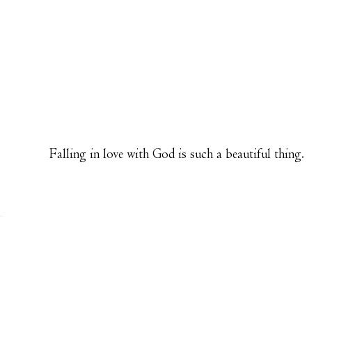 Falling In Love With God!