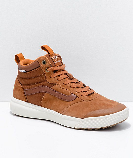 high top vans brown