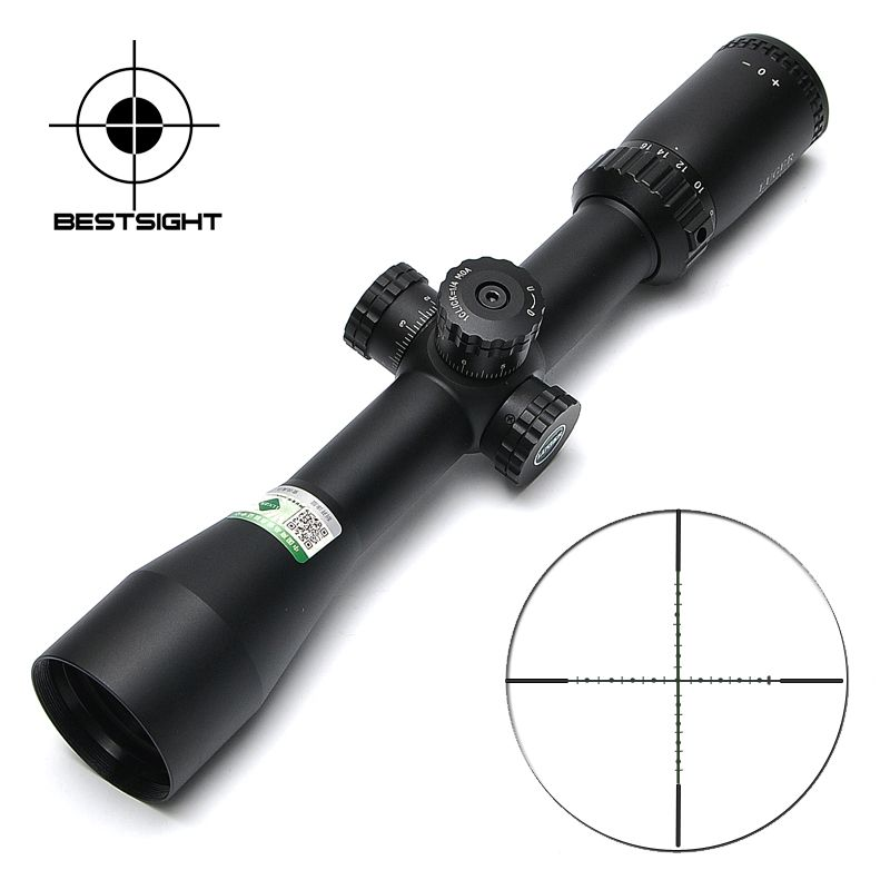 LUGER HR 4-16x44 SF Tactical Scopes Side Parallax Mil-Dot