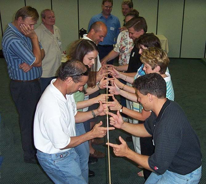 Team building games helium pole - Team building swimming pool games ...
