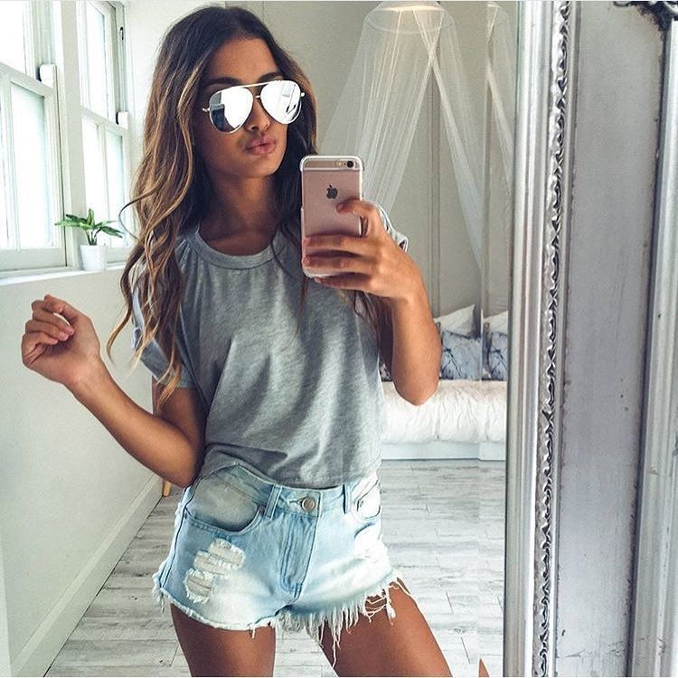 Getting Ready For Spring In Ripped Jean Shorts With Images