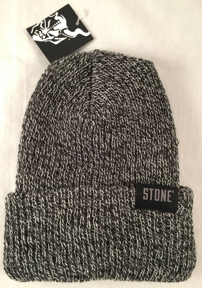 f2847a50c63 Stone Brewing Company Marled Beanie Cap Stocking Hat Winter Craft Beer Brew  Pom  BeanieCap
