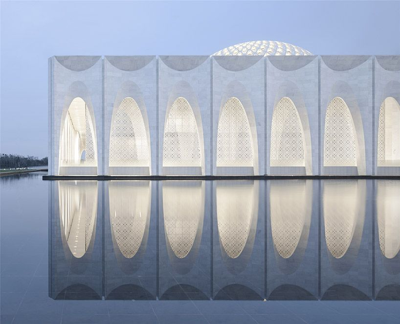 Stunning geometries grace new Muslim cultural center in China