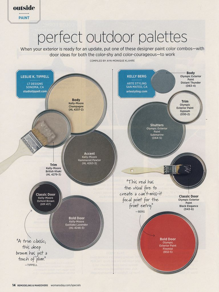 Designer paint color combos for the exterior of your home. Image via ...