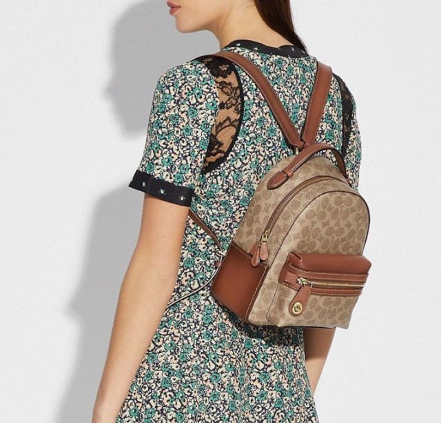f27d3a99ee93 Image result for COACH Womens Campus Backpack 23 in Coated Canvas Signature