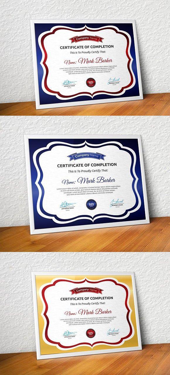 Certificate Certificate Template And Adobe Illustrator