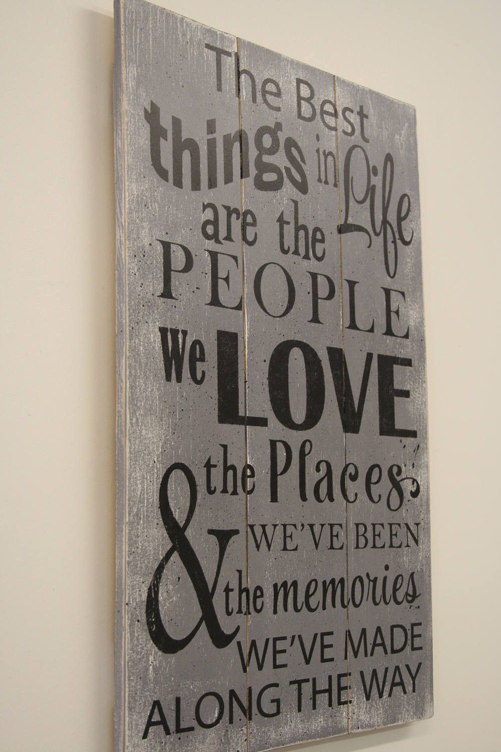 Wood Sign Pallet Sign The Best Things In Life Sign Inspirational