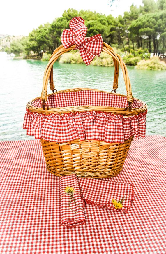 Ref 601 cesta picnic cestas vime decoradas - Cestos de mimbre decorados ...