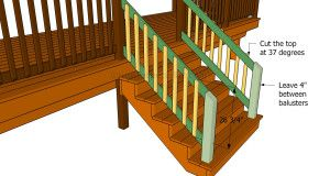 Wonderful This Diy Article Is About How To Build Deck Stair Railings. In This Article  We Show You How To Build Deck Stair Railings And Balusters And How To  Install ...