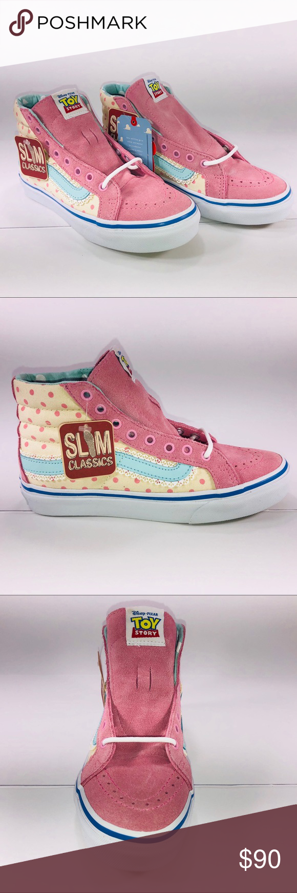 Vans SK8 Hi Slim Toy Story Bo Peep   White Sneaker New With Damaged Box See  Pictures For Details. Vans SK8 Hi Slim Toy Story Lil Bo Peep Multlcolor    True ... f2f292e35