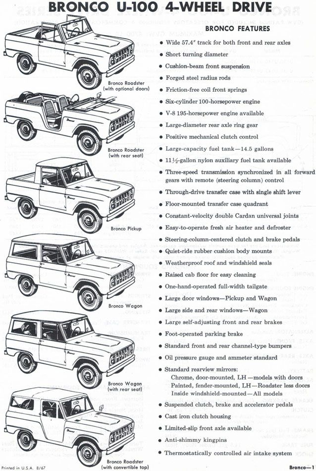 1968 Ford Bronco, I love reading these vintage ad things