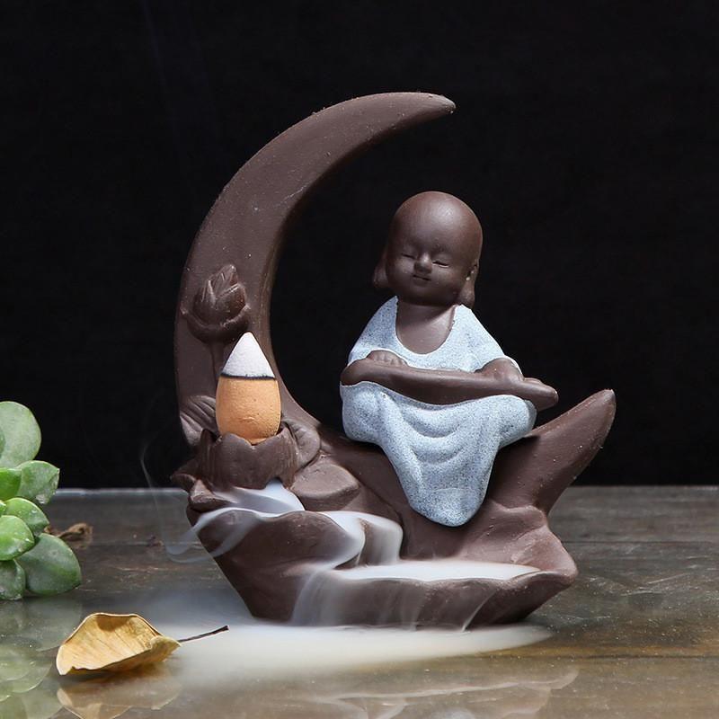 Handmade Moon Baby Incense Holder