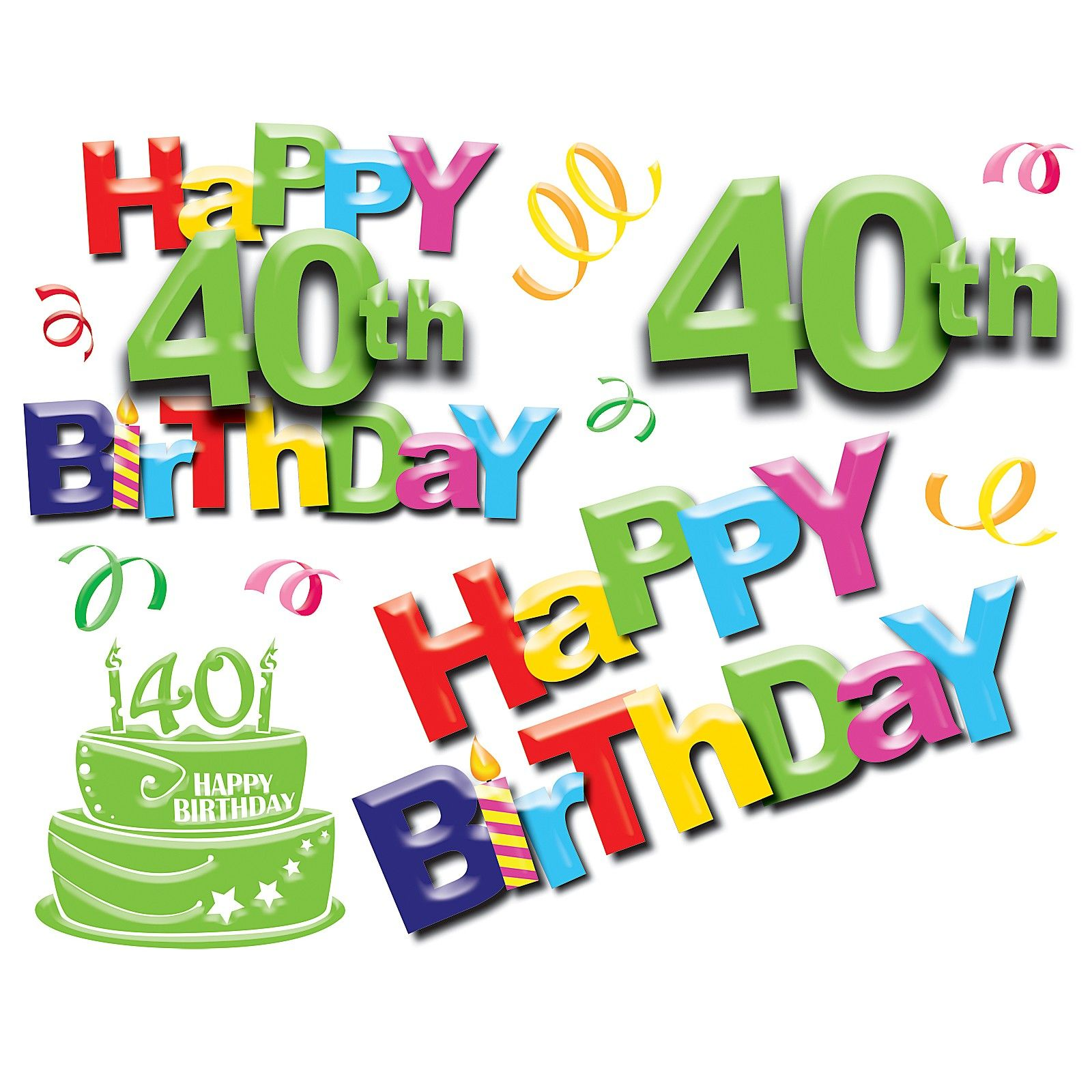 happy 40th birthday 1 just other stuff pinterest birthday rh pinterest com Happy Belated Anniversary Wishes Birthday Clip Art