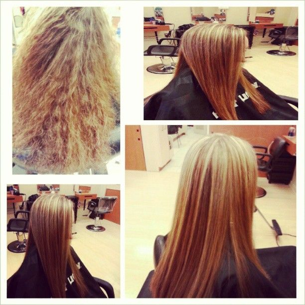 before & after by ME(Bianca Wolfe).  . Highlights, blow dry and flat iron. VC Hair Cuttery 5451 w. touhy ave. Skokie,IL 60077. 847-679-8965