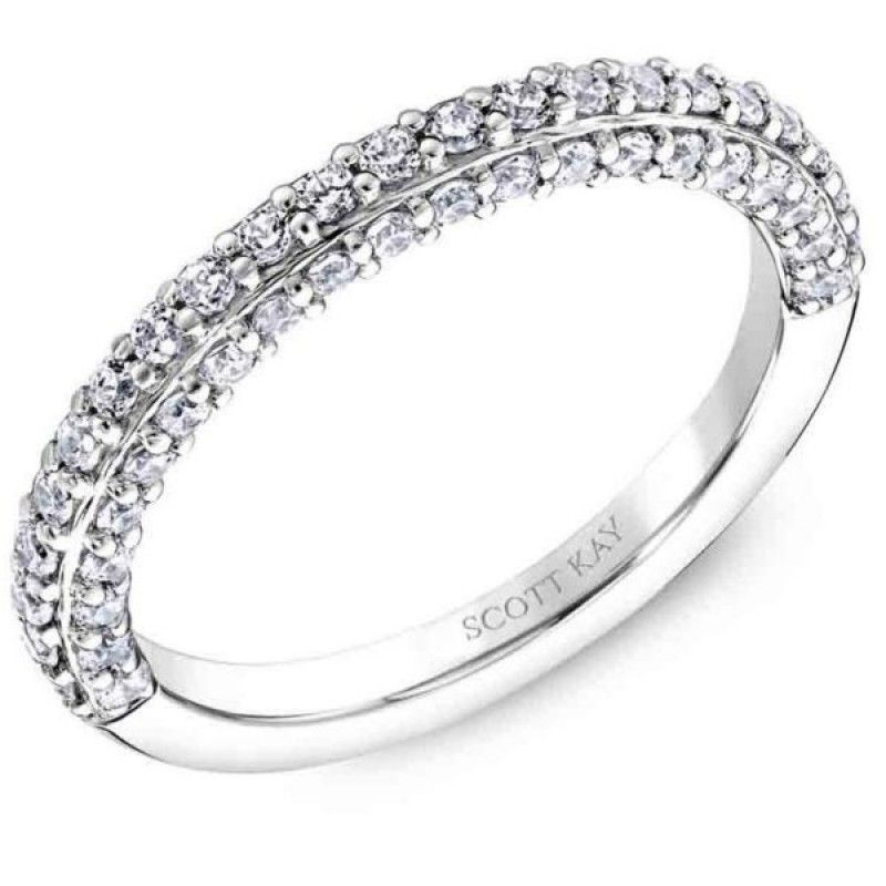 White Gold Scott Kay Diamond Wedding Band Womens Wedding Bands Diamond Wedding Bands Scott Kay Engagement Rings